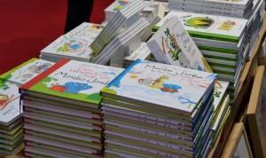 Bøger om Mimbo Jimbo i stakkevis.