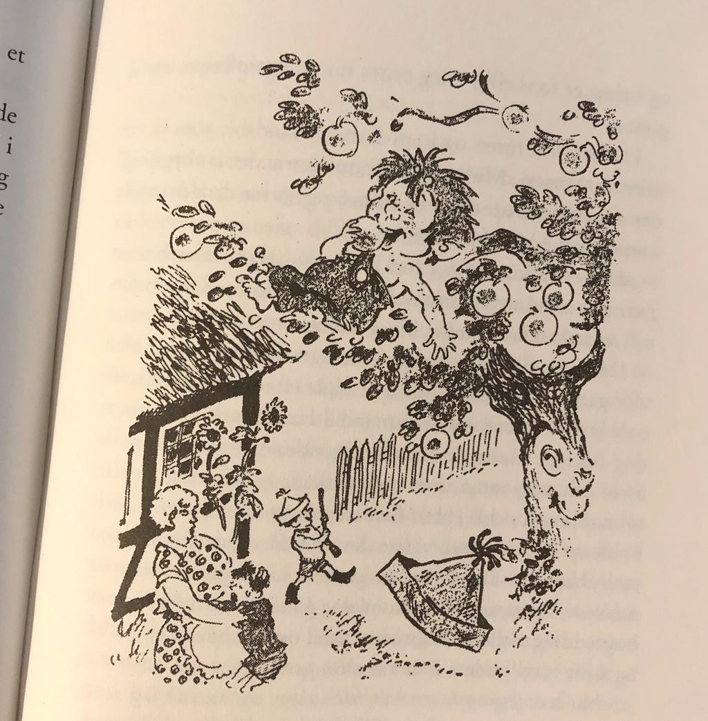 Illustration i Troldepus i skoven - og andre historier af Dines Skafte Jespersen
