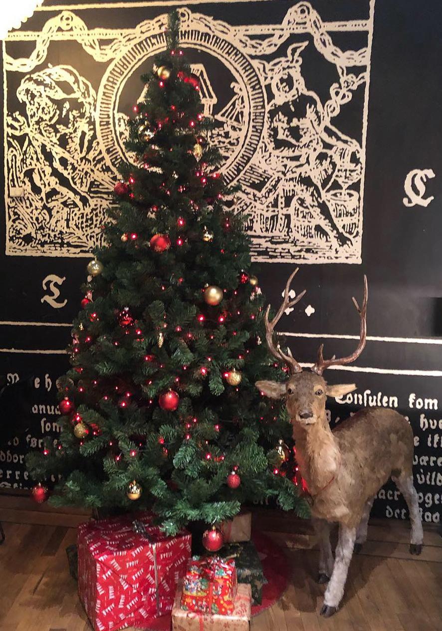 Fint juletræ på Cafe Stiften