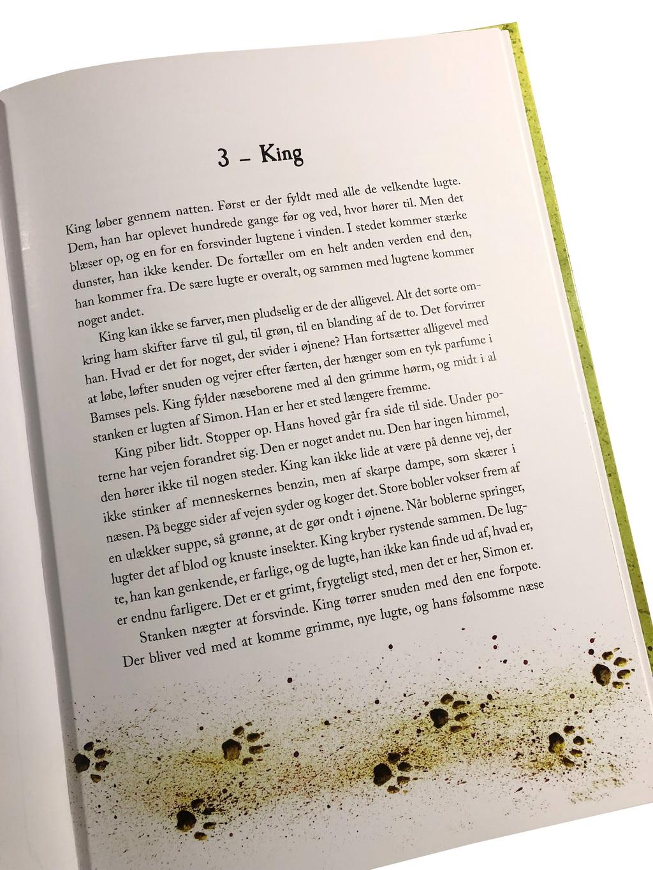Opslag i King af A. Silvestri, hvor man kan se mængden af tekst.
