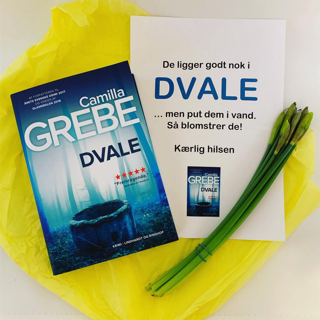 Der kom en hyggelig pakke med posten. Den indeholdt Dvale af Camilla Grebe - og fine påskeliljer.