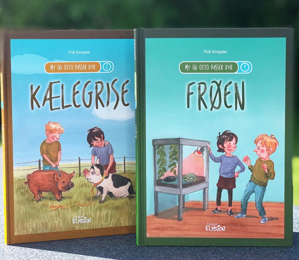 Frøen og Kælegrise, My og Otto passer dyr 1-2 af Puk Krogsøe