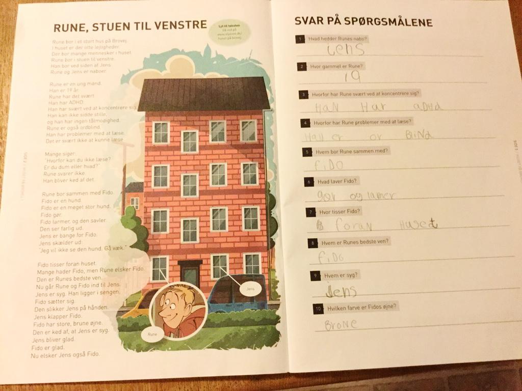 Billede af: Opslag i Huset på Brovej af Lise Røjlby Frederiksen og Susanne Frederiksen