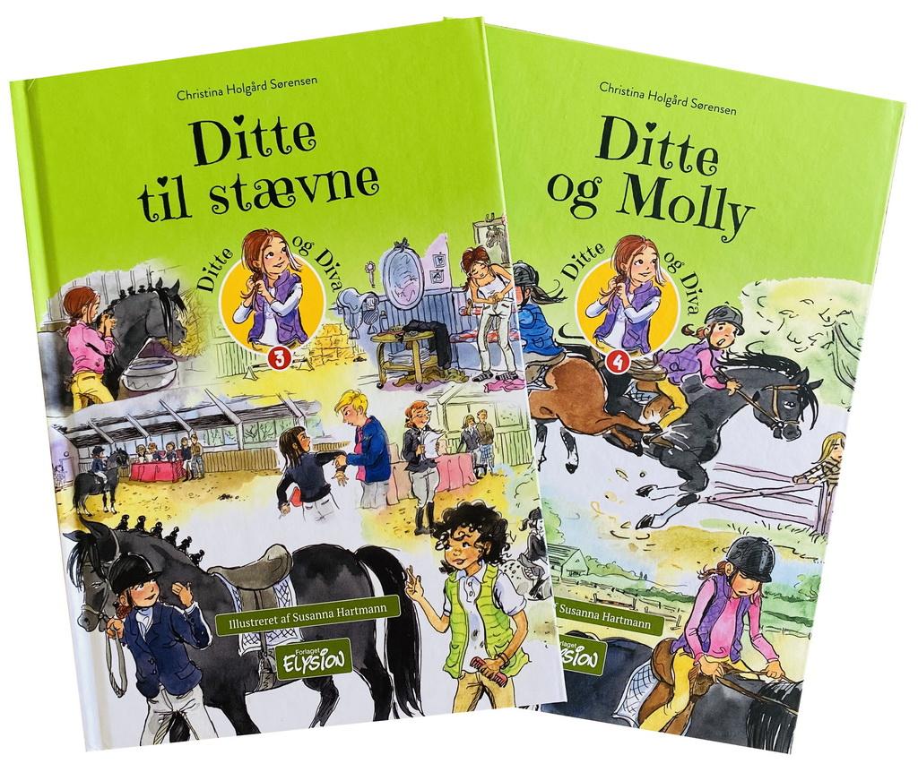 Billede af: Ditte til stævne og Ditte og Molly af Christina Holgård Sørensen