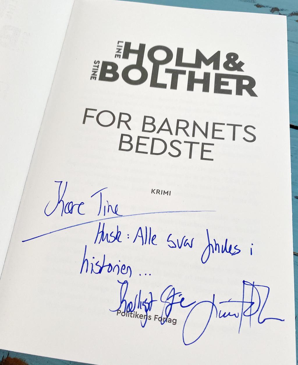 Billede af: Signatur i: For barnets bedste af Line Holm og Stine Bolther