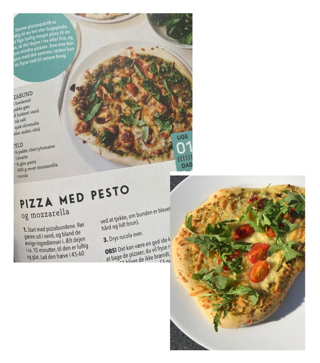Billede af: Opslag i Fattig student - samt mad lavet efter opskrift fra bogen.