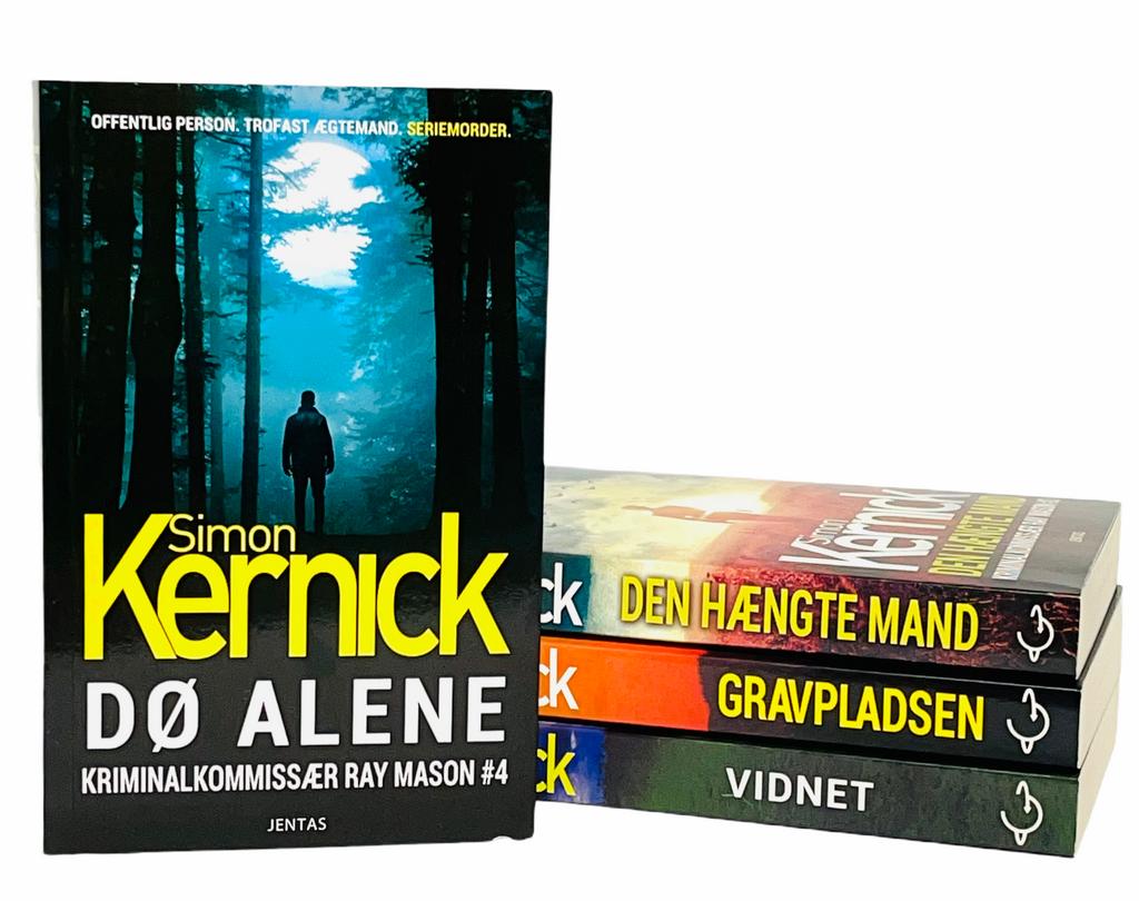 Billede af: Dø alene + de tre øvrige bøger i serien om Ray Mason af Simon Kernick