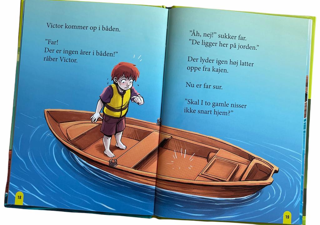 Billede af: Opslag i Victor og far sætter en båd i vandet af Per Østergaard
